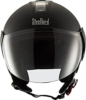 Steelbird SB-33 EVE Natural Dashing Motorbike Helmet (Black)