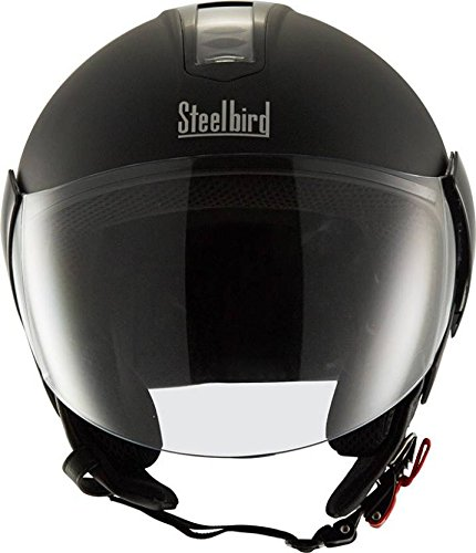 Steelbird SB-33 EVE Natural Dashing Motorbike Helmet (Black)