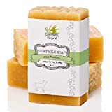 Goat Milk Soap Bars (3 Pack) - Essential Oil Blend,...