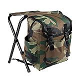 PetHot Fishing Rucksack Folding Stool With Back Pack Stool Backpack Rucksacks Seat Chair
