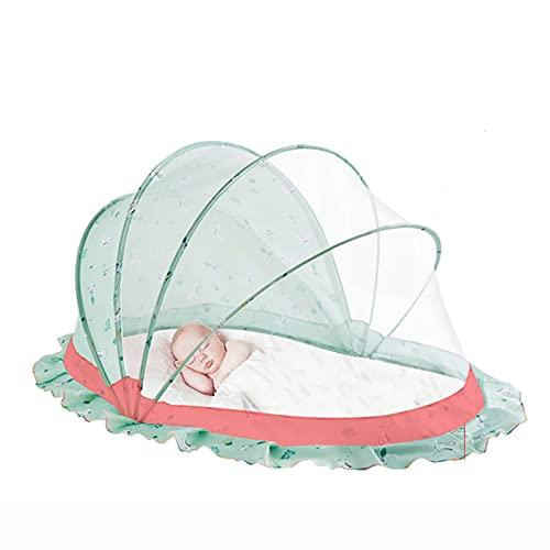 CHENNA Mosquito Net para niños pequeños, lecho Anti Mosquitos al Aire Libre Tiendas de campaña sin Fondo Nets, Diseño Plegable y Lavable (Size : 128X70X65CM)