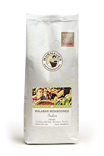 Murnauer Kaffeerösterei MALABAR - Espressobohnen aus Indien - Premium Kaffee - von Hand frisch & schonend geröstet - Espresso und Filterkaffee - 1000g ganze Bohnen