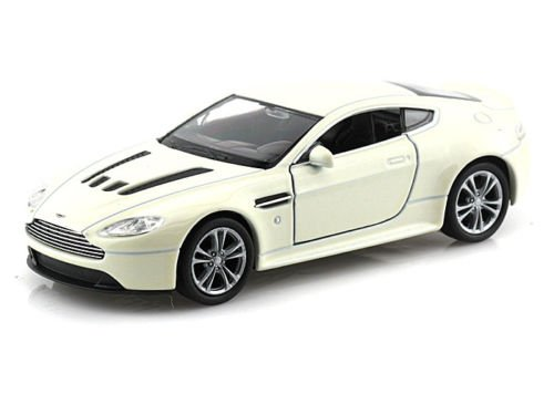 Welly New 1:32 Display Collection - White Aston Martin V12 Vantage Diecast Model Car