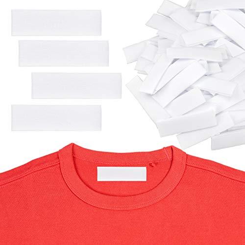 Meetory 200 etiquetas de ropa para escribir con plancha, etiquetas personalizadas para planchar para marcar tu ropa para uniforme escolar de los niños, universidad y etiquetas personalizables