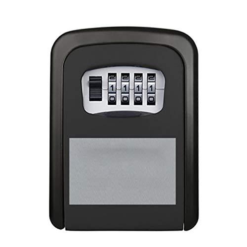 Nowakk Ideal para almacenamiento de llaves con un gran espacio de almacenamiento, caja de seguridad para llaves de B&B, color negro