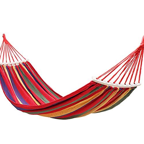 Hamaca De Jardín para Acampar 190 X 80 Cm Hamaca Portátil Acampar Al Aire Libre O En El Jardín Y Viajar - Carga Máxima 150 Kg,Red-B