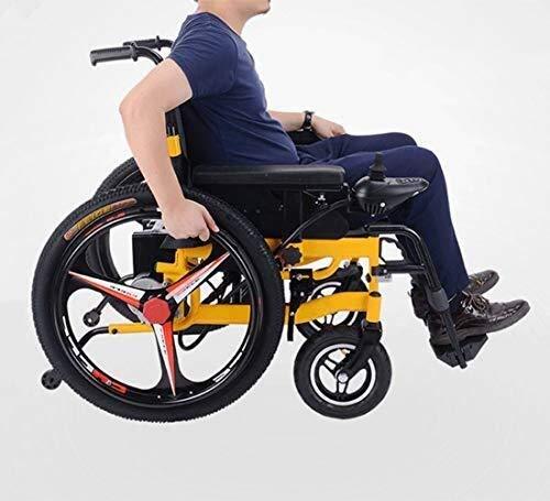 411d938ThdL - Sillas de ruedas HYL-silla de ruedas eléctrica Luz silla de ruedas plegable portátil de energía de parasitismo - 24 Inchs Silla de ruedas eléctrica for los ancianos, discapacitados y hemiplejía pacien