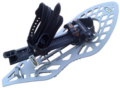 MORPHOALP Schneeschuhe, HELLGRAU/SCHWARZ, mit Fußgelenk-Schnalle (Snowboard Type) mit Polstereinlage, M