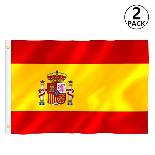 RYMALL Bandera España Grande, 2pcs Bandera de España,