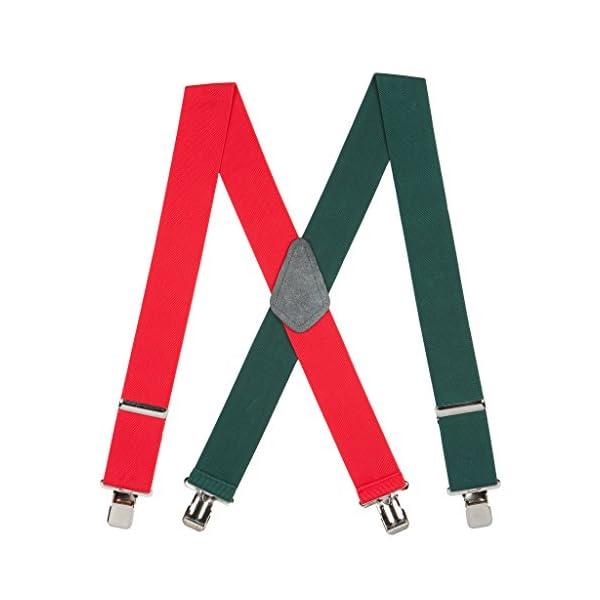 SuspenderStore Men's Red-Green Suspenders