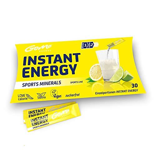GoMo ENERGY® Bebida deportiva isotónica de minerales sin azúcar| Entrena más duro y recupérate de manera rápida | Mejora el rendimiento físico y mental | Bebida vegana | SPORTS MINERALS 30 porciones