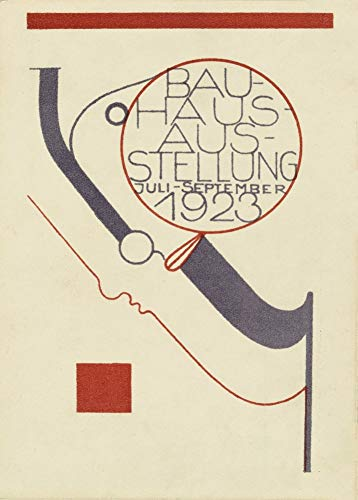 World of Art Vintage Bauhaus 'Bauhaus Ausstellungspostkarte', 1923 von Oskar Schlemmer, A3 Größe 200g Papier Bauhaus Reproduktionsplakat