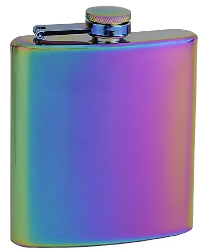 Top Shelf Flasks Rainbow Colored 'Unicorn' Hip Flask, 6 oz