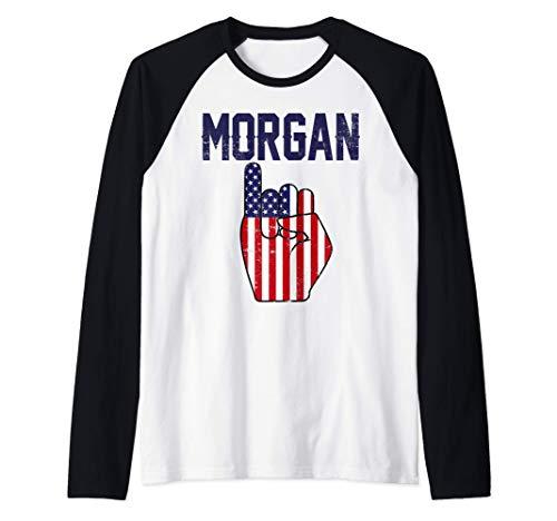 Morgan Tè Celebrazione del calcio Regalo per le Donne Maglia con Maniche Raglan