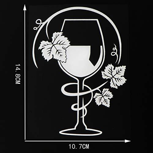 JKGHK Pegatinas de coche 2 unids Vinos Vinos Vinilo Decoración Personalidad Coche Pegatinas Negro/Plata 10.7×14.8CM