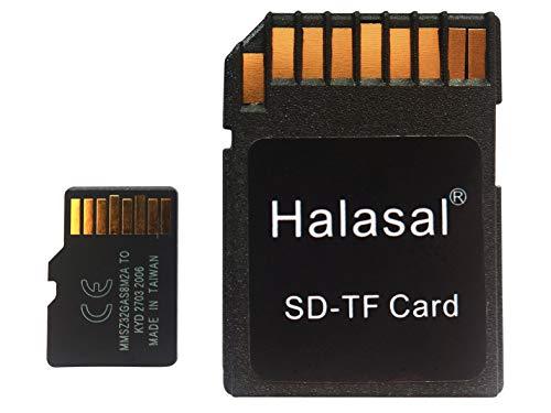 Halasal Tarjeta SD de 64 GB U3 TF Tarjeta Micro SD TF Tarjeta de memoria flash SDXC con adaptador para Smartphone/Altavoz Bluetooth/PC/cámara/VR (64 GB, 1 paquete con adaptador)