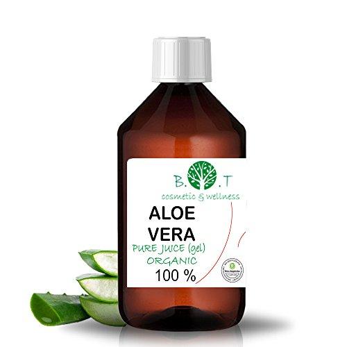 100% Pure Jus d'Aloe Vera Organique (liquide, sans épaississants) (250 ml) Jus Natif origine Canaries