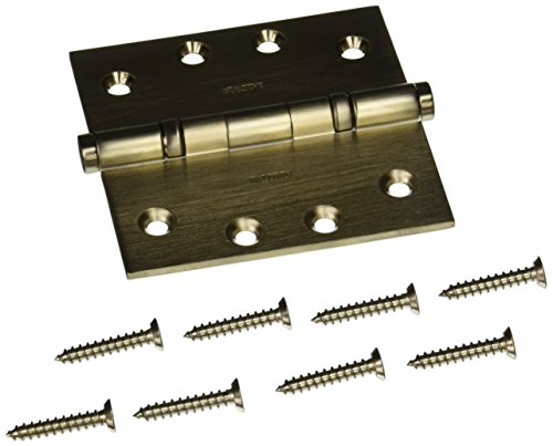Baldwin 1041056I Square Ball Bearing Mortise Hinge, Lifetime Satin Nickel