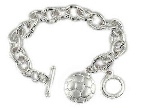 Red Rock Designs Fußball-Armband, tolles Geschenk für Fußballspieler, Trainer und Team. Warum eine andere Trophäe kaufen?