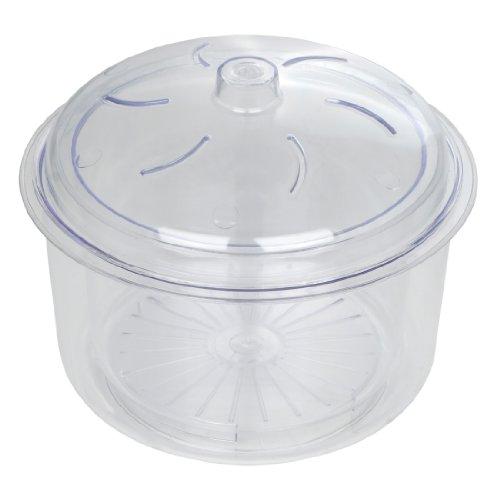 Dexam Cuiseur Vapeur avec Panier et Couvercle pour Micro-Ondes 3 pièces Transparent 2,3 l