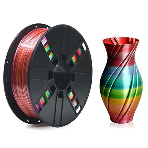 ERYONE Rainbow PLA Filament 1.75mm Filament for 3D Printer 1kg /Spool, Classiccal Rainbow