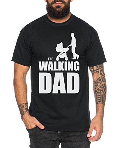 The Walking Dad Camiseta de Hombre Nerd Dead, Farbe2:Negro;Größe2:L