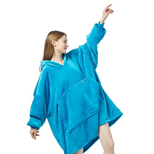 REDESS Blanket Sweatshirt Hoodie Oversized Sherpa Wearable Blanket Plush Warm and Cozy Blanket Hoodie for Women and Men Fleece Blanket...