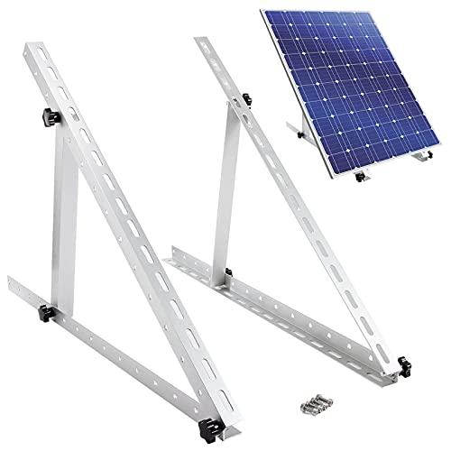 "Aulock Adjustable Solar Panel Tilt Mount Brackets- 28"" Folding Mounting Solar Panel Support Frame Heavy Duty Flat Surface Standing Bracket Rack for Wall Boat RV Motorhome Roof On-Grid Off-Grid System"