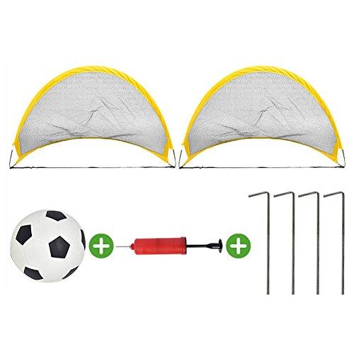 Ocamo Portería de fútbol portátil y plegable para Entrenamiento de fútbol,Partido de fútbol al aire libre 65cm para Niños