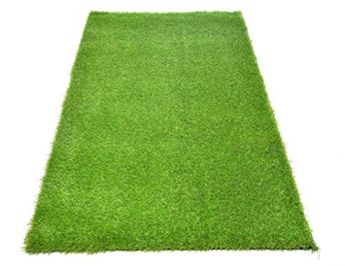 acerto Khela Realistisch kunstgras, groen, per meter – rolgras van kunststof met drainage – poolhoogte ca. 30 mm - 10 jaar UV-garantie 2x2m