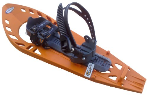 TRIMOETTE LIGHT Schneeschuhe, ORANGE/GREY, mit Fußgelenk-Schnalle (Snowboard Type) ohne Polstereinlage, M