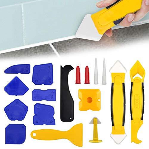 JOLIGAEA Kit de herramientas de calafateo de silicona, juego de removedor de...
