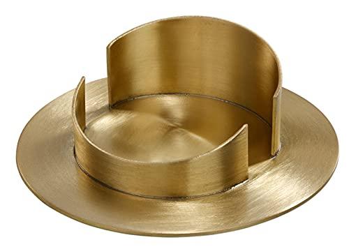 2 laiton Chandelier rond avec manche mat brossé, 35/120 mm (Gold Metallic)