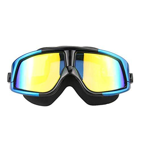 Unisex Schwimmbrille Schwimmbrille Männer und Frauen große Box HD Anti-Fog Myopie Schwimmen Brille wasserdichte Erwachsene Kinder Schwimmen Kappe Set Eye protection ( größe : 300 degree myopia )