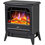 Fireplace Stoves Electric Freestanding Flame Fireplace for 900W 1800W for Home and Office(Heat Flame fireplace B)