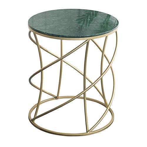 Home&Selected fineer/ronde tafel, Scandinavische stijl, Café, Marmer, hoekbank, bijzettafel, balkontafel, vrijetijdstafel, potplant, 50 x 57 cm (kleur: B) Een