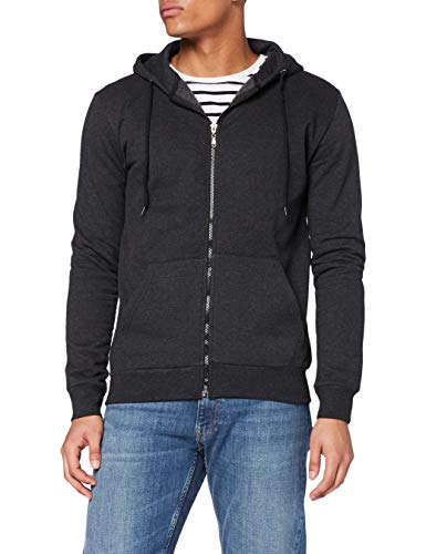 FM London Hyfresh Zipped Capucha, Marfil (Charcoal 22), X-Large para Hombre