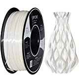 PLA Filamento 1.75mm Blanco Seda, ERYONE Seda Brillante Filamentos PLA 1.75mm, 3D Impresora Filamento PLA for 3D Impresoras and 3D Pen, 1kg 1 Carrete
