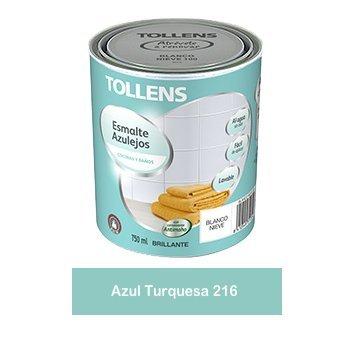 Tollens - Esmalte para azulejos al agua 750 ml (Azul Turquesa 216)
