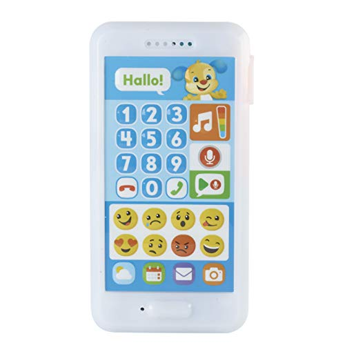 Fisher-Price FPR14 Lernspaß Hündchens Smart Phone Lernspielzeug mit Lichtern und Telefongeräuschen inkl. Aufnahmefunktion, ab 18 Monaten deutschsprachig