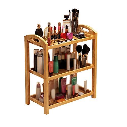 Chariot de Coiffure avec Tablette de Salon de beauté, Chariot de Rangement pour Salon de beauté, 3 Niveaux, pour la Maison/Cuisine/Chambre à Coucher, Bambou, 3 Niveaux (Taille : 60 × 32 × 67cm)