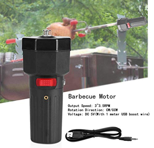Grill motor DC 5 V, USB elektrische grillspies rotisserie motor vervanging, 3~3,5 RPM CW/CCW draagbare universele camping party grill gereedschap accessoires