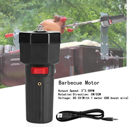 Barbecue grill motore DC 5V, sostituzione motore elettrico girarrosto USB elettrico barbecue, 3~3.5 giri/min CW/CCW portatile universale campeggio casa accessori per barbecue