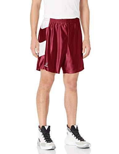 Intensity Unisex Basketballshorts, 17,8 cm, Chevron Dazzle, Jungen Unisex, Kardinal/Weiß, Small