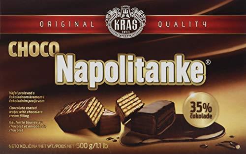 Kras Napolitanke Choco Neapolitanerwaffeln mit Schokoladenüberzug 5 (1 x 500 g)