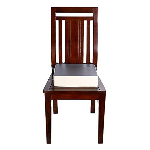 Sumnacon食事クッションこども座布団椅子用クッションこども高さ調節チェアクッション子供ひも付き(グレー+ベージュ)
