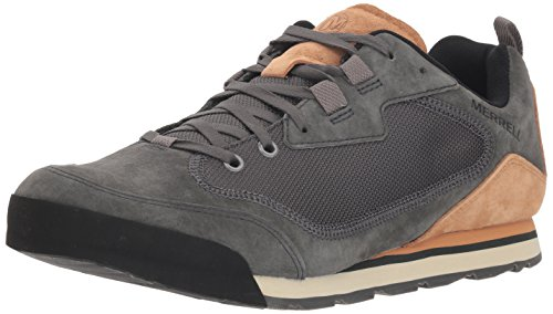 Merrell Men's Burnt Rock Travel Suede Hiking Shoe, Granite, 9 M US