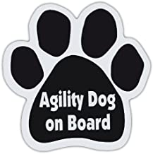 Dog Paw Shaped Magnets: AGILITY DOG ON BOARD | Dogs, Gifts, Cars, Trucks
