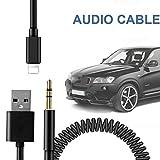 Riloer Y Cable USB Audio AUX Interfaz Adaptador Internacional para Coche Teléfono 5 6 7 8