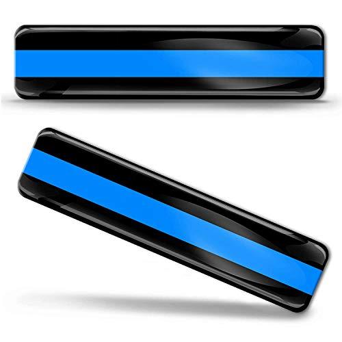 2 x PVC Stickers Skull Thin Blue Line Decal B 227